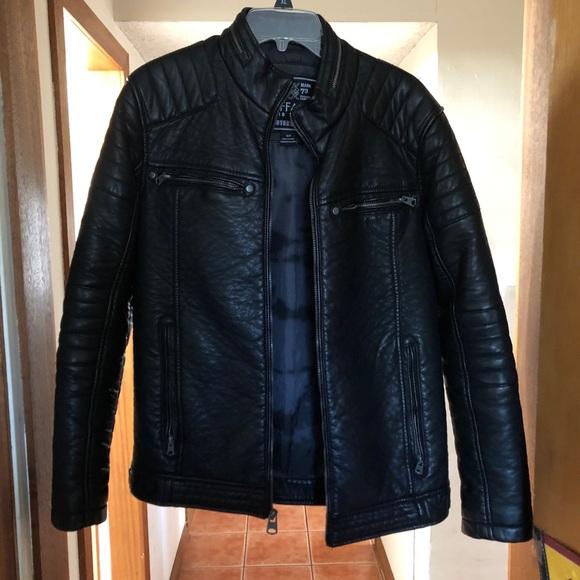 5663ea34e Buffalo Jeans Black Faux Leather Jacket